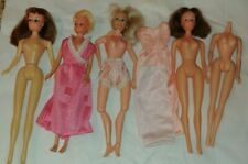 "Five vintage Barbie clones, mostly ""Made in Hong Kong,"" no two alike"