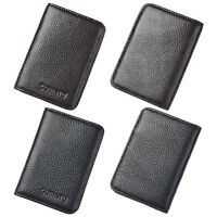Men's RFID Magic Genuine Leather Money Clip Slim Wallet ID Credit Card Holder