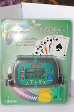 Cassette Player/Electronic Video Casino Game LGW-40 Vintage Sealed in Plastic