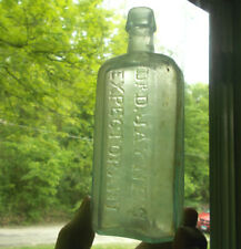 OPEN PONTIL DR.JAYNES EXPECTORANT CRUDE 1850s PRIVY DUG MEDICINE BOTTLE