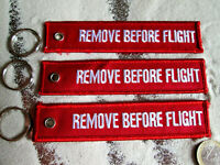 Remove BEFORE FLIGHT 3er SET Schlüsselanhänger /Avion / Aircraft / YakAir