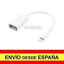 Cable Adaptador Compatible con Conexiones iPhone a USB Hembra Color Blanco a3416