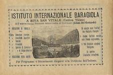 Stampa antica pubblicità ISTITUTO BARAGIOLA Riva San Vitale 1889 Antique print