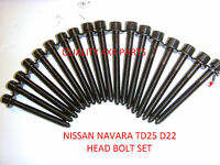 Nissan Navara 2.5 YD25DDTi D22 D40 HEAD BOLT SET  BRAND NEW