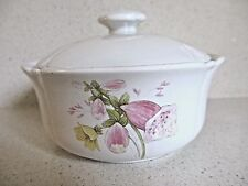 Ceramic Pot with lid Pretty Foxglove Garden Flowers Perfect for Dressing Table