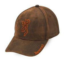 Browning Waxed Cotton Brown Rhino Cap, Adjustable, Free Shipping