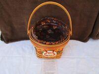 Longaberger 1996 Shades Of Autumn Maple Leaf Basket #13935