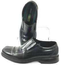 Clarks Deane Loafer Men's 11.5 M Black Leather Bicycle Toe Elastic Slip On Shoes