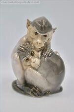 Superb Rare 1903 Royal Copenhagen Figurine Pair Monkey # 415 C Thomsen