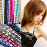 1 Pair Women Rhinestone Crystal Adjustable Elastic Shoulder Bra Strap Lingerie