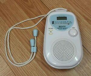 GPX (A321) Battery Operated AM / FM Digital Clock Display Shower Clock Radio