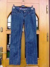 EDC by Esprit Stretch 7/8 Jeans Stiefel Hose Hüfte gerade 5 Pocket Used-Look W29