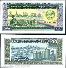 LAOS 100 KIP UNC BEAUTIFUL  NOTE # 86