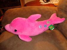 Dolphin Hot Pink 2011 K&M Wild Republic Stuffed Plush Porpoise Flowers