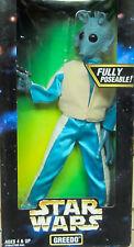 Star Wars 30.5cm Completamente poses Greedo 1997 kenner acción colección MIB