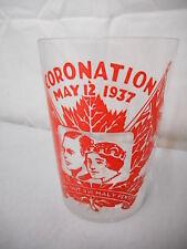 "King George VI Coronation 4"" Tumbler, May 12, 1937, Canada, HM, Maple Leaf"