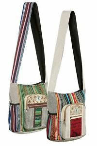 New Himalayan Hemp and Gheri Shoulder Bag Satchel cross body bag