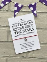 Star Wish Bracelet, Always aim for the Moon Tibetan Silver Star Charm Gift Card