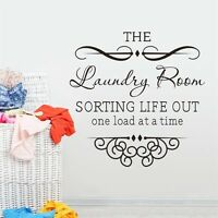 The Laundry Room Vinyl Art DIY Quote Wall Sticker Home Wall Decals Words Decor