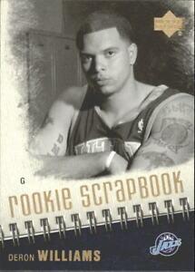 2005-06 Upper Deck Rookie Scrapbook #10 Deron Williams Rookie Jazz Nets