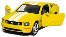 "2006 Ford Mustang GT with Stripes 1:38 Scale Diecast Car Model 5"" YELLOW"