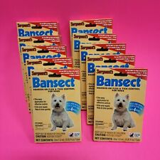 New listing 10 Sergeants Bansect Squeeze-on Flea & Tick Control For Dogs/Puppy's 7 to 33 lbs