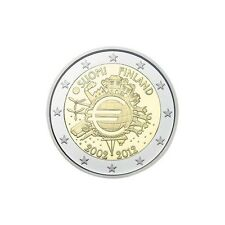 """Pièce Commémorative de Finlande 2012, """"10 ans de Euros""""."""