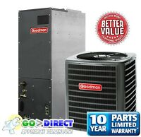 Goodman 4 Ton 14 SEER Heat Pump Split System GSZ140481+ARUF61D14 New Model!