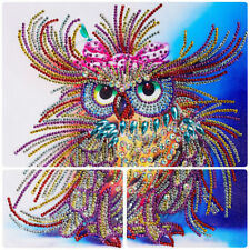 5D DIY Cross Stitch Embroidery Rhinestone Painting Owl Diamond Craft Home Decor