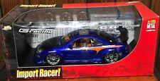 JADA IMPORT RACER MITSUBISHI ECLIPSE BLUE 1:18 EXTRA WHEELS CARS TOYS