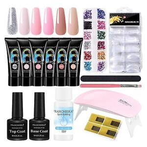 Poly Builder Gel DIY Kit Jelly Crystal Nail Art Glue Quick Extension Poly Nail