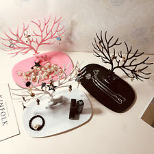 US Jewelry Deer Tree Stand Display Organizer Necklace Ring Earring Holder Rack
