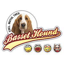 Auto Aufkleber BASSET HOUND No.1 OLD SCHOOL SIVIWONDER Sticker EMOJI Smiley Dog