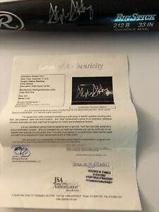 Stephen Strasburg Signed Rawlings Big Stick Black Bat JSA Certified LOA