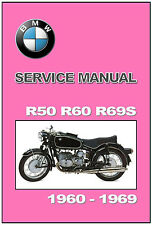 BMW Workshop Manual R50 R50S  R60  R69S 1960 1961 1962 1963 1964 to 1969 Service