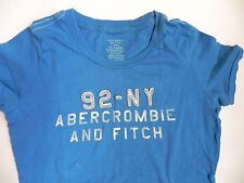 Abercrombie & Fitch~Bright Blue graphic T-shirt sz XSmall