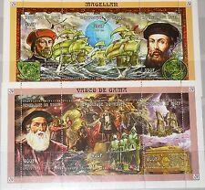 NIGER 1998 Klb 1611-16 MS 990-91 Explorers Entdecker Magellan Vasco da Gama MNH