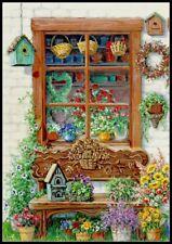 Flowers Cabinet - Diy Chart Counted Cross Stitch Patterns Needlework 14 ct Dmc
