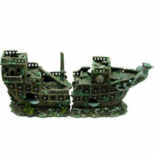 Large 2 Piece Shipwreck ~ Classic Aquarium Ornament for Larger Fish Tanks 917