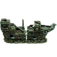 Grande 2 pezzi naufragio ~ Classic Ornamento Acquario per pesci più grandi serbatoi 917