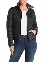 Nautica Women's Reversible Hooded Packable Puffer Jacket - Size X- Large | Black