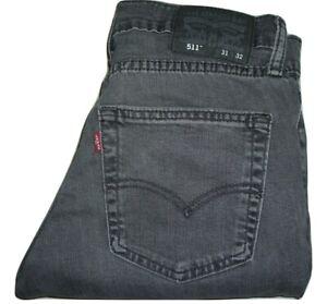 Mens LEVIS 511 Grey (2079) Slim Fit Stretch Denim Jeans W31 L32