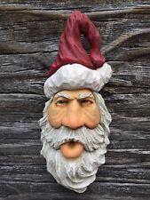 Santa Wood Carving Wizard Big Ooak Red Hat Elf Ooak Scott Longpre Originals #2