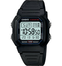 Casio W800H-1AV, Digital Watch, Resin Band, Stopwatch, Alarm, 10 Year Battery