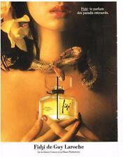 PUBLICITE ADVERTISING  1983   GUY LAROCHE  parfum FIDJI