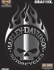 HARLEY DAVIDSON WILLIE G SKULL TRIBAL BLADE 11 INCH CHROME DECAL