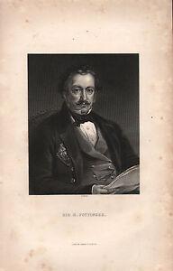 1858 BRITISH EMPIRE INDIA PRINT ~ SIR H.POTTINGER ~ PORTRAIT
