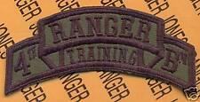 4th RTB AIRBORNE RANGER School Cadre scroll patch OD