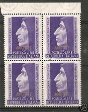 1952 TRIESTE A SAVONAROLA QUARTINA MNH ** RR6042-3