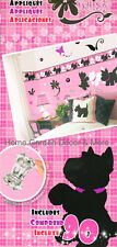 PUPSY DAISY Puppy Dog Flower Purple Butterfly Wall Appliques Stickers Border